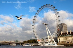 Flying by the London Eye