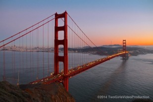 Golden Gate at sundown